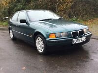 1998 BMW 316i Compact Long MOT 92k Miles E36 Leather Interior