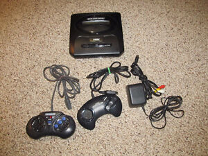 Sega Genesis with Controllers and Cords -  Tested!