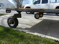 Homemade swivel wheel trailer