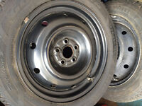 HYUNDAI VELOSTER SNOW TIRES AND RIMS 205/60/16