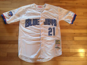 New Roger Clemens Toronto Blue Jays Jersey Throwback Stitched