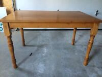 Hardwood table only $50 firm