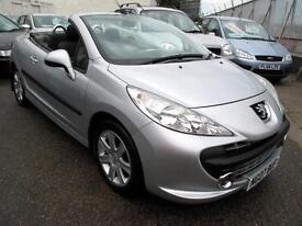 2007 07 Peugeot 207 CC 1.6 16v 120 Coupe Sport Convertible 63k 1FK Silver