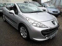 2007 07 Peugeot 207 CC 1.6 16v 120 Coupe Sport Convertible 63k 1FK Silver