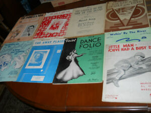 Sheet Music  Old  from 30s and up