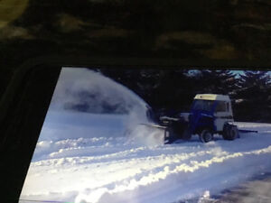 Tractor mounted Snowblower