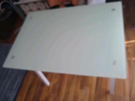 John Lewis frosted glass 'James' desk