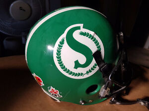 Weston Dressler Game Used Helmet - Saskatchewan Roughriders