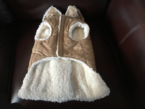 NEW FAUX SUEDE DOG COAT