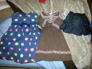 Size 3T girls clothing lot and size 7 shoes/boots
