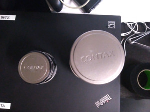 Contax G lenses w/ E-mount Adapters
