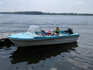 Classic Boat for sale - 50hp motor, trailer, extras