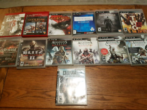 PS3 Games, $5 each