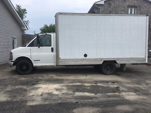 1997 Chevrolet CTV CUBE TRUCK WITH 14 FOOT BOX 190,000KM