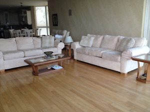 2 three seaters sofas for sale