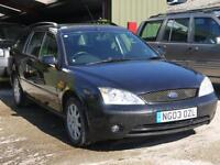 Ford Mondeo 1.8 2003/03 ZETEC ESTATE. CLEAN AND TIDY. 115K NEEDS AN MOT