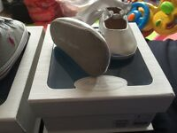 Silver Ralph Lauren crib shoes