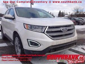 2016 Ford Edge TitaniumCool Interior! AWD, Super Sunroof, NAV, P