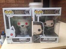 POP vinyl figurines - Game of Thrones Jon Snow and Ghost Aspendale Gardens Kingston Area Preview