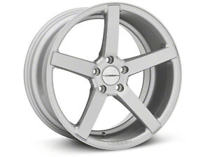 Vossen cv3 machined silver 19 in staggered Mustang rims