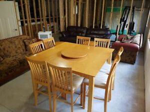 Bar Height Dining Table and Chair Set
