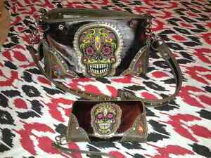 Brand new skull wallet and purse montana west