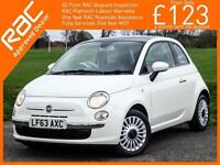 2013 Fiat 500 1.2 Lounge 5 Speed Sunroof Bluetooth Air Con Parking Sensors 1 Lad