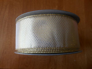 Brand New - 50 yards of wide wired ribbon - $10
