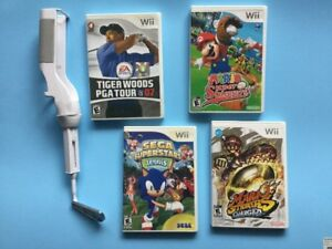 Golf Tiger Woods - Mario Sluggers - Strikers - Sega Tennis