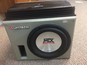 Car Subwoofer and Amplifier $120 OBO