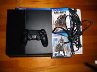 PS4 for sale with box, call of duty advance warfare and destiny