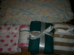 5 NEW Soft Baby Gift Blankets Lot-$10.00 for ALL