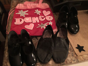 Girls Tap and Jazz shoes