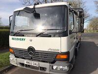 Recovery Truck 7.5 Tonne LEZ Mercedes Atego 815 Tilt and Slide Manual