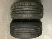 2 Tires BRIDGESTONE Run Flat 225 40 R18