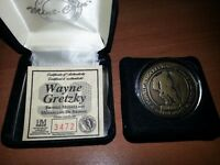 Whyne Gretzky Hall of Fame Bronze Medallion