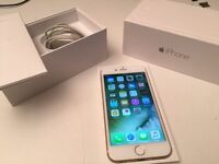 64gb IPHONE 6 - GOLD - Great Condition - O2/Tesco/Giffgaff