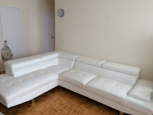 White leather sofa( Moving sale)