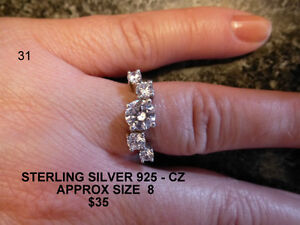 STERLING SILVER WITH CZs