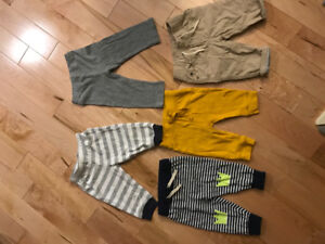 5 baby boy pants 3-6 ( Gap & Old Navy & Carters)