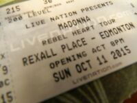 2 Hard Copy Tickets Madonna Sunday October 11 Rebel Heart Tour