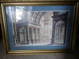 Mantle picture in gold frame