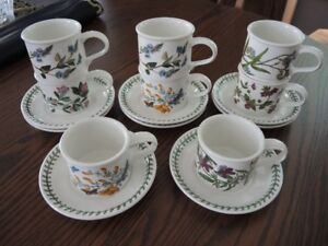 Portmeirion 8 cups and saucers