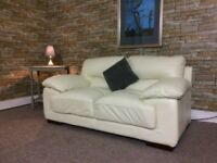 CREAM LEATHER SOFA**DELIVERY AVAILABLE**