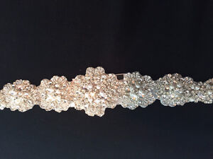 Never Worn Pearl and Crystal Wedding Belt - Allure Sash58