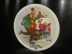 """The Skating Lesson"" Fine China Plate 1981 Joseph Csatari"