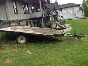 Double wide ATV Sled Trailer