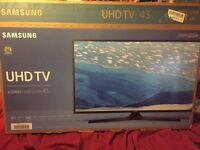 "Samsung 43"" 4K UHD TV (new boxed)"