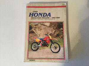 Honda CR250R CR450R CR480R CR500R Pro-Link 1981-1987 Shop Manual
