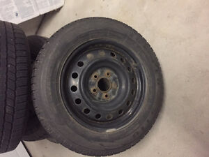 Snow Tires and Rims 215/60R16 -